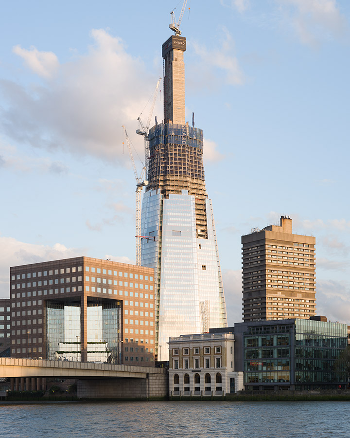 The Shard under construction, Renzo Piano Building Workshop